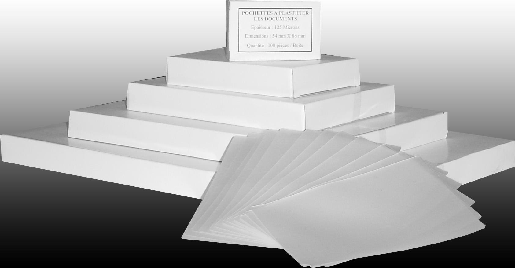 Societe FLOUX Pochettes A Plastifier Les Documents
